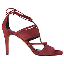 Buy Whistles Brea Lace Up Sandals, Burgandy Online at johnlewis.com