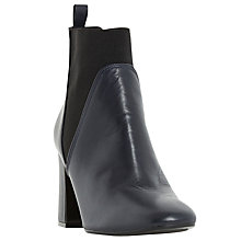 Buy Dune Ohio Blocked Heel Ankle Boots, Navy Online at johnlewis.com