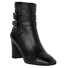 Buy L.K. Bennett Charlize Block Heeled Ankle Boots, Black Online at johnlewis.com