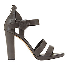 Buy Mint Velvet Caggie Block Heeled Sandals, Grey Online at johnlewis.com