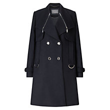 Buy Grace & Oliver Alexa Wool Pea Coat, Black Online at johnlewis.com