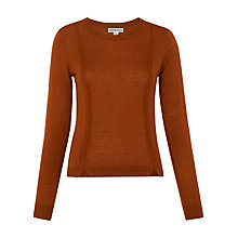 Buy Whistles Charo Split Hem Jumper, Brown Online at johnlewis.com