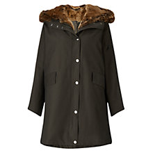 Buy Grace & Oliver Hattie Faux Fur Trim Parka, Khaki Online at johnlewis.com