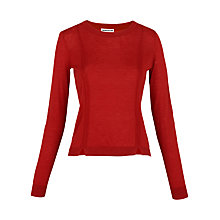 Buy Whistles Charo Split Hem Jumper, Red Online at johnlewis.com