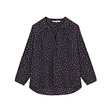 Buy Gerard Darel Crush Blouse, Navy Online at johnlewis.com
