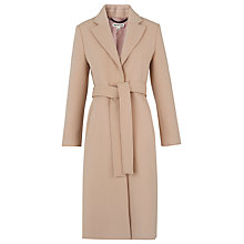Buy Whistles Slim Belted Coat, Pale Pink Online at johnlewis.com
