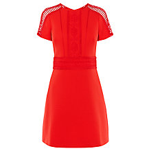 Buy Karen Millen Lattice Tapework Dress, Red Online at johnlewis.com