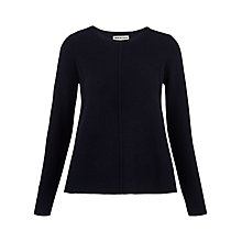 Buy Whistles Boiled Wool Trapeze Cardigan, Navy Online at johnlewis.com