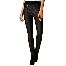 Buy Karen Millen Coated Jeans, Black Online at johnlewis.com