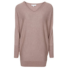 Buy Warehouse Batwing Boxy Tunic Jumper, Dark Pink Online at johnlewis.com