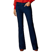 Buy Karen Millen Rinse Wash Kick Jeans, Dark Denim Online at johnlewis.com