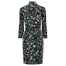 Buy Oasis V&A Ruche Dress, Multi Online at johnlewis.com