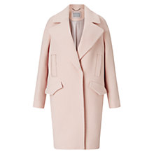 Buy Grace & Oliver Lily Wool Cocoon Coat, Pale Pink Online at johnlewis.com