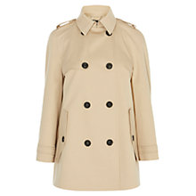 Buy Karen Millen Modern Cotton Trench Coat, Neutral Online at johnlewis.com