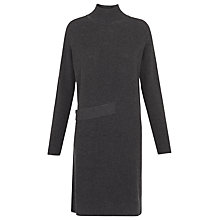 Buy Whistles Side Tab Jumper Dress, Grey Marl Online at johnlewis.com