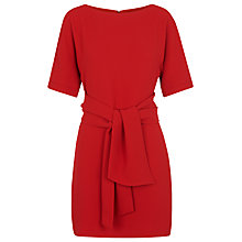 Buy Whistles Cecil Tie Front Dress, Red Online at johnlewis.com