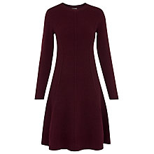 Buy Whistles Seymour Flare Dress, Burgundy Online at johnlewis.com