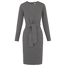 Buy Whistles Ira Pinstripe Jersey Dress, Grey Online at johnlewis.com
