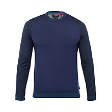 Buy Ted Baker T for Tall Camtt Merino Wool Crew Neck Jumper, Navy Online at johnlewis.com