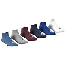 Buy Adidas Ankle Socks, Pack of 6 Online at johnlewis.com