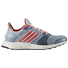 Buy Adidas Ultra Boost ST Women's Running Shoes, Blue Online at johnlewis.com