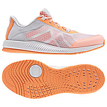 Buy Adidas Gymbreaker Bounce Women's Cross Trainers, White/Orange Online at johnlewis.com