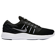 Buy Nike LunarStelos Men's Running Shoes, Black/Silver Online at johnlewis.com