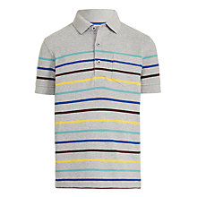 Buy John Lewis Boys' Multi Stripe Polo Top, Grey Online at johnlewis.com