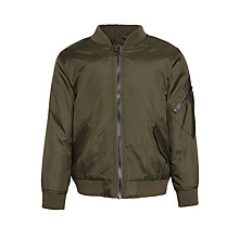 Buy John Lewis Boys' Prix Bomber Jacket, Khaki Online at johnlewis.com
