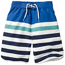 Buy Fat Face Boys' Stripe Board Shorts, Cobalt Online at johnlewis.com