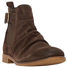 Buy Dune Casper Buckle Boot, Brown Online at johnlewis.com
