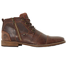 Buy Dune Captain Toecap Boots, Brown Online at johnlewis.com