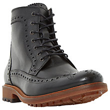 Buy Bertie Coolio Brogue Boots, Black Online at johnlewis.com