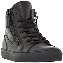 Buy Dune Snoop High Top Trainers, Black Online at johnlewis.com