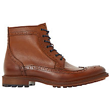 Buy Bertie Coolio Brogue Boots, Tan Online at johnlewis.com