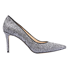 Buy Mint Velvet Rihanna Pointed Toe Court Shoes, Pewter Metallic Online at johnlewis.com
