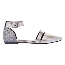 Buy Mint Velvet Payton Pointed Toe Pumps, Pewter Metallic Online at johnlewis.com