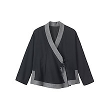 Buy Toast Soft Wool Wrap Jacket, Black Online at johnlewis.com