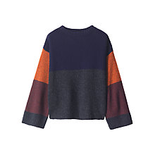Buy Toast Kimono Colour Block Jumper, Orange/Wine Online at johnlewis.com