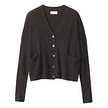 Buy Toast Boxy Cashmere Wool Cardigan, Charcoal Online at johnlewis.com