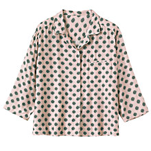 Buy Toast Floral Foulard PJ Shirt, Dusty Pink Online at johnlewis.com