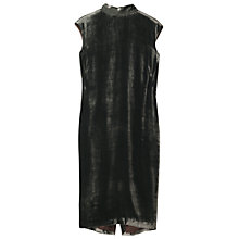 Buy Toast Silk Velvet Column Dress, Deep Khaki Online at johnlewis.com