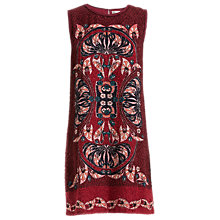 Buy Max Studio Print Clipped Jacquard Dress, Garnet Online at johnlewis.com