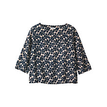 Buy Toast Painted Flower Wool Challis Top, Navy Online at johnlewis.com