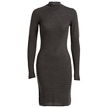 Buy Max Studio Turtle Neck Knit Dress, Charcoal Online at johnlewis.com