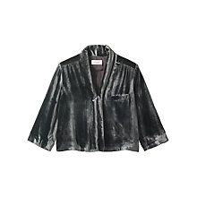 Buy Toast Silk Velvet Shirt, Slate Online at johnlewis.com