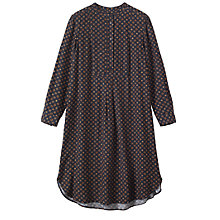 Buy Toast Diamond Foulard Shirt Dress, Navy/Camel Online at johnlewis.com