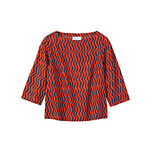 Buy Toast Bukhara Stripe Top, Auburn/Navy Online at johnlewis.com