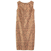 Buy Toast Angkar Ikat Column Dress, Olive Online at johnlewis.com