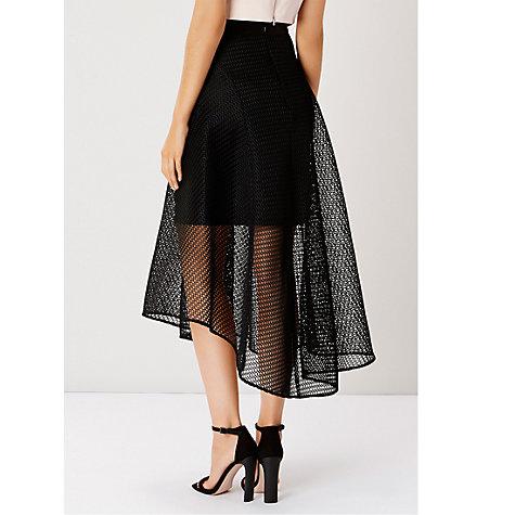 buy coast elin mesh high low skirt black lewis